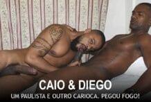Um Paulista e Outro Carioca. Pegou Fogo! Caio Carioca e Diego Moreno (Bareback)