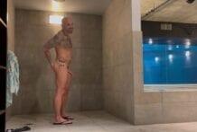 Public shower cum eating