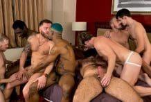 Skeet Shoot 8-man Orgy (Bareback)