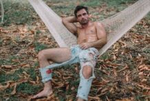 Andy Catlin, SuperNudes BTS these pants butt em! Just me and my hammock