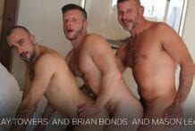Clay Towers, Brian Bonds and Mason Lear (Bareback)