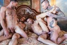 Dylan James Raw Foursome: Dylan James, Edison Fuller, Jackson Radiz & Shane Jackson (Bareback)