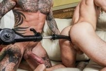 Dylan James, Max Adonis And A Fuck Machine RAW