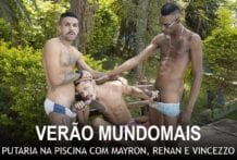 Pirocudos Na Piscina: Renan Dotadão, Vincezzo Soares & Mayrom Paulista (Bareback)