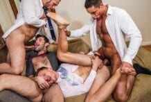 The City, Suits And Sex: Stas Landon, Nick Capra, Ben Batemen & Andrey Vic (Bareback)