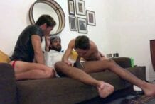 Threesome with Ricvanucci and Boyinthemirror2, Part 1 (Bareback)